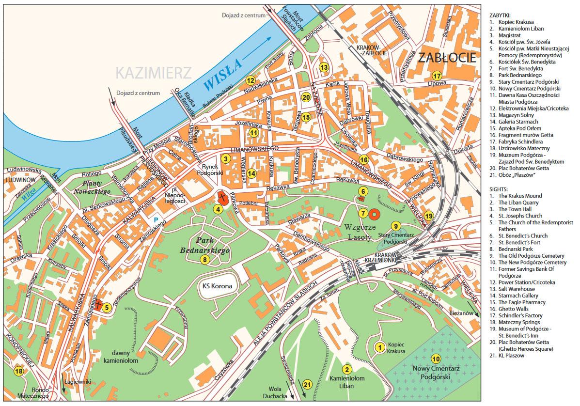 Mapa Podgorza Podgorze Pl